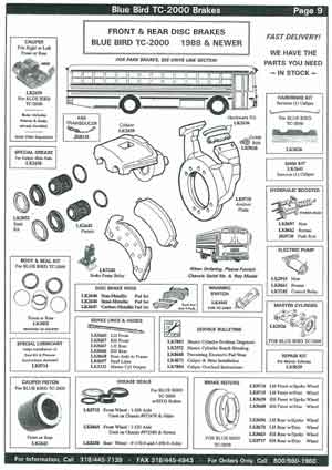 Blue Bird School Bus Brake Parts