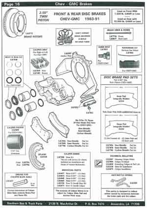 Chevrolet School Bus Brake Parts
