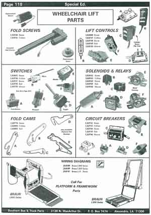 School Bus Wheelchair Lift Parts